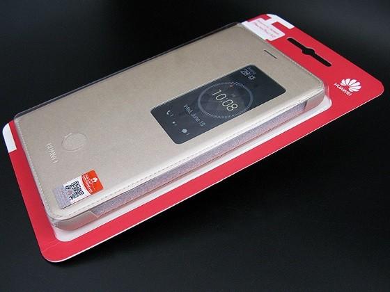 Фирменный чехол-книжка с окном для входящих вызовов для Huawei Mediapad X1/ X2 7.0  (7D-501L) золотая