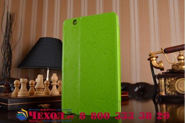 Фирменный чехол с красивым узором для планшета Huawei MediaPad M3 8.4 LTE (BTV-W09/DL09) зеленый натуральная кожа Италия
