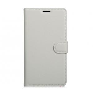 Фирменный чехол-книжка из качественной импортной кожи с подставкой застёжкой и визитницей для Huawei Nova Plus белый