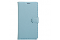 Фирменный чехол-книжка из качественной импортной кожи с подставкой застёжкой и визитницей для Huawei Nova Plus голубой
