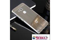 Фирменная металлическая задняя панель-крышка-накладка из тончайшего облегченного авиационного алюминия для Huawei Nova Plus серебристая