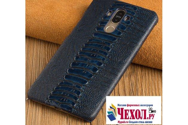 Фирменная элегантная экзотическая задняя панель-крышка с фактурной отделкой натуральной кожи крокодила синего цвета для Xiaomi Mi5. Только в нашем магазине. Количество ограничено.