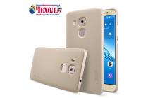Фирменная задняя панель-крышка-накладка из тончайшего и прочного пластика для Huawei Nova Plus золотая