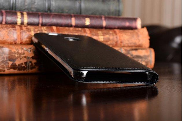 Фирменный чехол-книжка для Huawei Nova черный с окошком для входящих вызовов и свайпом водоотталкивающий
