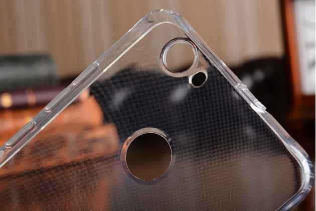 Фирменная ультра-тонкая полимерная из мягкого качественного силикона задняя панель-чехол-накладка для Huawei Nova прозрачная с заглушками