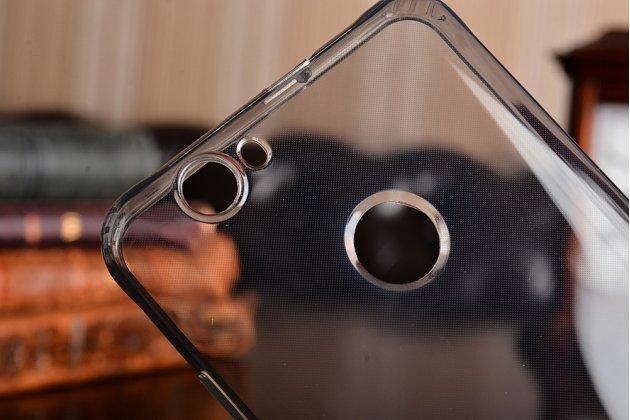 Фирменная ультра-тонкая полимерная из мягкого качественного силикона задняя панель-чехол-накладка для Huawei Nova черная с заглушками