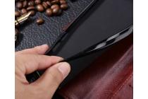 Фирменный чехол-книжка для Huawei Nova с визитницей и мультиподставкой черный кожаный