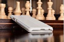 Фирменный оригинальный чехол-книжка для Huawei P10 белый с окошком для входящих вызовов водоотталкивающий