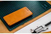Эксклюзивная оригинальная кожаная наклейка (из натуральной кожи)  для Huawei P10 коричневая