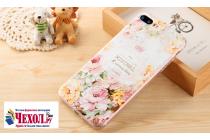 """Фирменная уникальная задняя панель-крышка-накладка из тончайшего силикона для Huawei P10 с объёмным 3D рисунком """"тематика королевские Розы"""""""