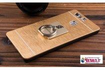 Фирменная металлическая задняя панель-крышка-накладка из тончайшего облегченного авиационного алюминия для Huawei P10 золотая