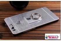 Фирменная металлическая задняя панель-крышка-накладка из тончайшего облегченного авиационного алюминия для Huawei P10 серебристая