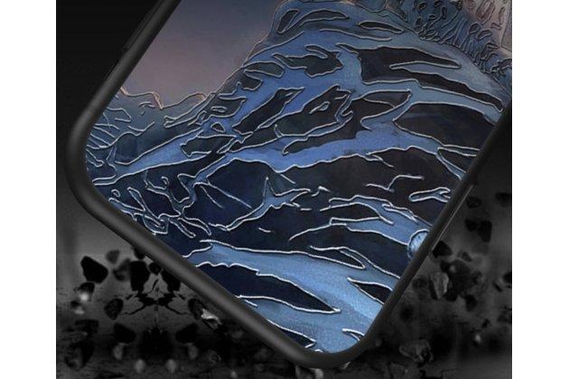 """Фирменная необычная уникальная пластиковая задняя панель-чехол-накладка для Huawei P8 Lite """"тематика Горы"""""""