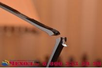 Фирменный оригинальный чехол-бампер для Huawei P8 Lite черный металлический усиленный
