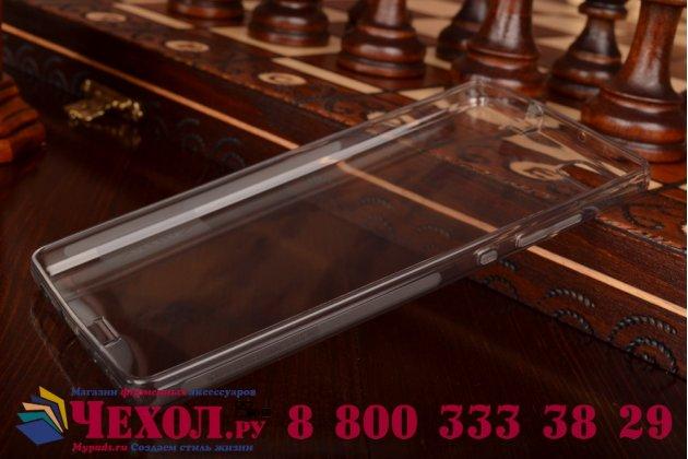 """Фирменная ультра-тонкая полимерная из мягкого качественного силикона задняя панель-чехол-накладка для Huawei P8 Lite 5.0"""" черная с защитными заглушками"""