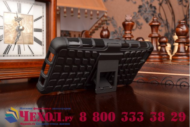 """Противоударный усиленный ударопрочный фирменный чехол-бампер-пенал для Huawei P8 Lite 5.0"""" черный"""