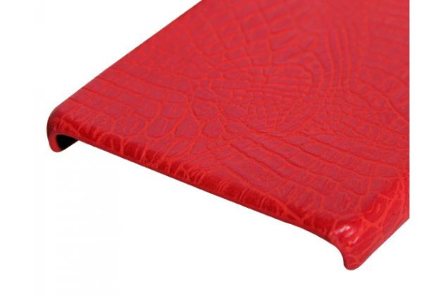 Фирменная роскошная элитная ультра-тонкая пластиковая задняя панель-крышка бампер для Huawei P8 max кожа крокодила красная