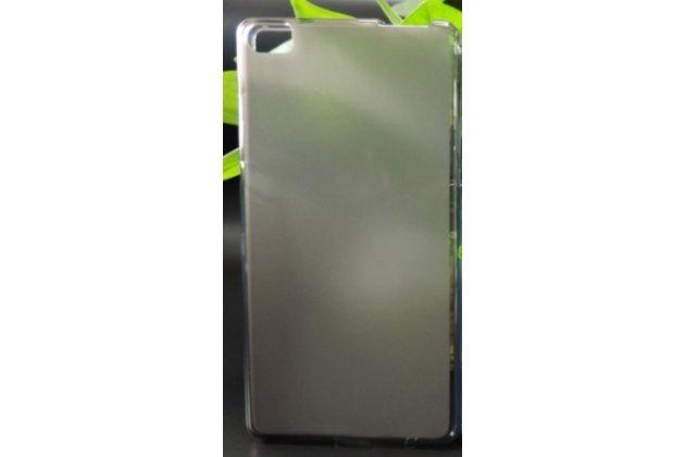 Фирменная ультра-тонкая полимерная из мягкого качественного силикона задняя панель-чехол-накладка для Huawei P8 max черный