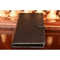 """Фирменный чехол-книжка из качественной импортной кожи с мульти-подставкой застёжкой и визитницей для Хюавей П8 Макс 6,8""""  черный"""