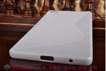 Фирменная ультра-тонкая полимерная из мягкого качественного силикона задняя панель-чехол-накладка для Huawei P8 max белая