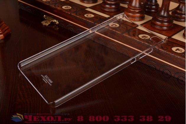 Фирменная задняя панель-крышка-накладка из тончайшего и прочного пластика для Huawei P8 max прозрачная