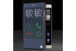 Чехол с мультяшной 2D графикой и функцией засыпания для Huawei P8 max в точечку с дырочками прорезиненный с перфорацией синий