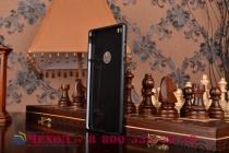 Фирменная металлическая задняя панель-крышка-накладка из тончайшего облегченного авиационного алюминия для Huawei P8 max черная