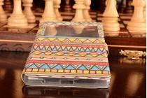 Фирменный чехол-книжка с безумно красивым расписным эклектичным узором на Huawei P8 max
