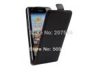 Фирменный оригинальный вертикальный откидной чехол-флип для Huawei P8 max черный кожаный