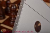 Фирменная металлическая задняя панель-крышка-накладка из тончайшего облегченного авиационного алюминия для Huawei P8 max серебристая