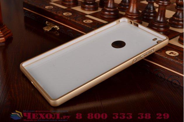 Фирменная металлическая задняя панель-крышка-накладка из тончайшего облегченного авиационного алюминия для Huawei P8 max золотая