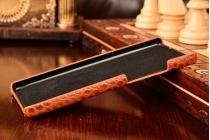 """Фирменная роскошная элитная ультра-тонкая алюминиевая задняя панель-крышка бампер для Huawei P8 5.2""""  лаковая кожа крокодила шоколад"""