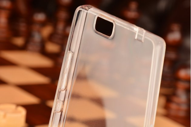 """Фирменная ультра-тонкая полимерная из мягкого качественного силикона задняя панель-чехол-накладка для Huawei P8 Lite 5.0"""" белая с защитными заглушками"""