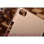 Фирменная задняя панель-крышка-накладка из тончайшего и прочного пластика для Huawei P8 золотая..