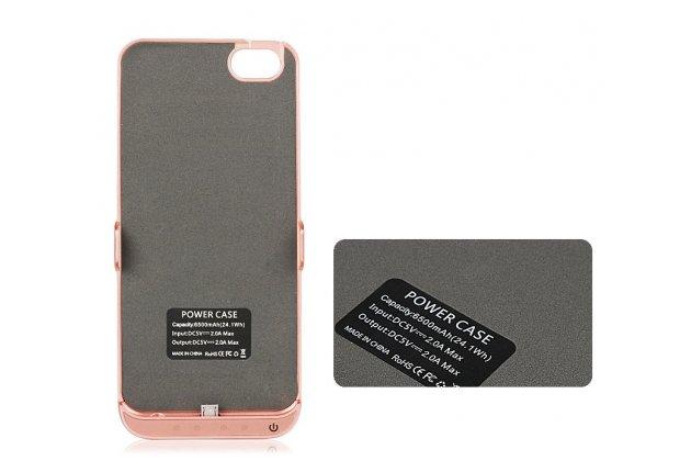 Чехол-бампер со встроенной усиленной мощной батарей-аккумулятором большой повышенной расширенной ёмкости 8200 mAh для Huawei P8 (GRA-UL10) 5.2 черный + гарантия