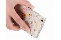 Фирменная уникальная задняя панель-крышка-накладка из тончайшего силикона для Huawei P8 (GRA-UL10) 5.2 с объёмным 3D рисунком тематика Олень
