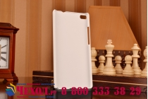 Фирменная задняя панель-крышка-накладка из тончайшего и прочного пластика для Huawei P8 белая