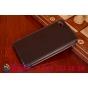 """Фирменный оригинальный вертикальный откидной чехол-флип для Huawei P8 5.2"""" черный кожаный """"Prestige"""" Италия"""