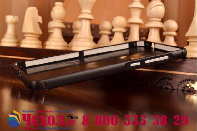 """Фирменная металлическая задняя панель-крышка-накладка из тончайшего облегченного авиационного алюминия для Huawei P8 5.2"""" черная"""