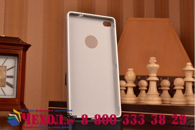 """Фирменная металлическая задняя панель-крышка-накладка из тончайшего облегченного авиационного алюминия для Huawei P8 5.2"""" серебристая"""
