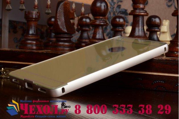 """Фирменная металлическая задняя панель-крышка-накладка из тончайшего облегченного авиационного алюминия для Huawei P8 5.2"""" золотая"""