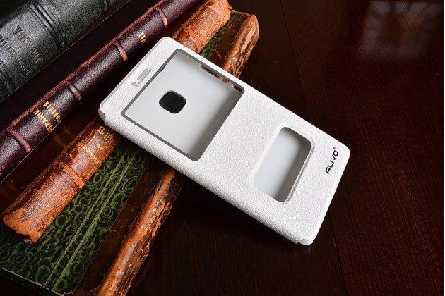 """Фирменный чехол-книжка для Huawei P9 Lite / G9 / Dual Sim LTE (VNS-L21 / VNS-TL00/DL00) 5.2"""" белый с окошком для входящих вызовов и свайпом водоотталкивающий"""
