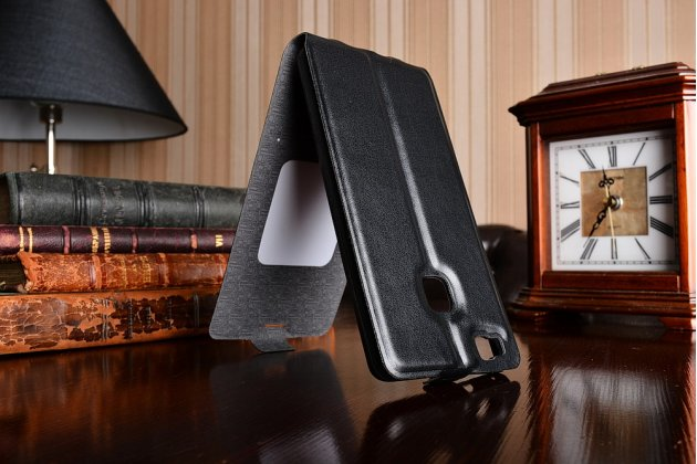 """Фирменный оригинальный вертикальный откидной чехол-флип для Huawei P9 Lite / G9 / Dual Sim LTE (VNS-L21 / VNS-TL00/DL00) 5.2"""" черный кожаный"""