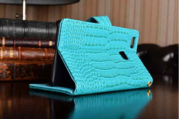 """Лаковая блестящая кожа под крокодила чехол для  Huawei P9 Lite / G9 / Dual Sim LTE (VNS-L21 / VNS-TL00/DL00) 5.2""""  цвет морской волны"""