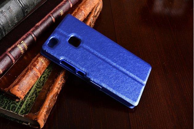 """Фирменный чехол-книжка для Huawei P9 Lite / G9 / Dual Sim LTE (VNS-L21 / VNS-TL00/DL00) 5.2"""" синий с окошком для входящих вызовов и свайпом водоотталкивающий"""