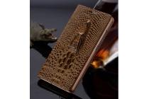"""Фирменный роскошный эксклюзивный чехол с объёмным 3D изображением кожи крокодила коричневый для Huawei P9 Lite / G9 / Dual Sim LTE (VNS-L21 / VNS-TL00/DL00) 5.2"""" . Только в нашем магазине. Количество ограничено"""