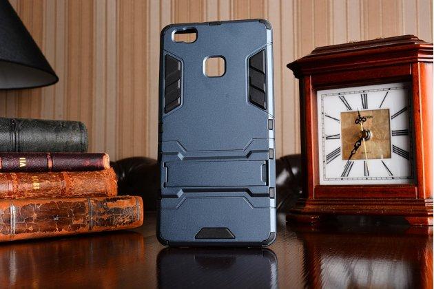 """Противоударный усиленный ударопрочный фирменный чехол-бампер-пенал для Huawei P9 Lite / G9 / Dual Sim LTE (VNS-L21 / VNS-TL00/DL00) 5.2"""" черный"""