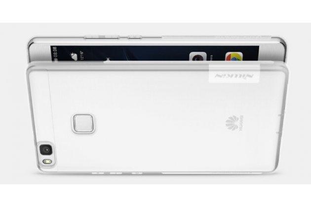 """Фирменная ультра-тонкая полимерная из мягкого качественного силикона задняя панель-чехол-накладка для Huawei P9 Lite / G9 / Dual Sim LTE (VNS-L21 / VNS-TL00/DL00) 5.2""""  серая с защитными заглушками"""