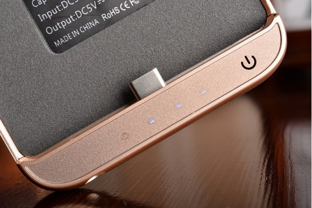 """Чехол-бампер со встроенной усиленной мощной батарей-аккумулятором большой повышенной расширенной ёмкости 10000mAh для Huawei P9 + Plus (VIE-AL10 ) 5.5""""  золотой + гарантия"""