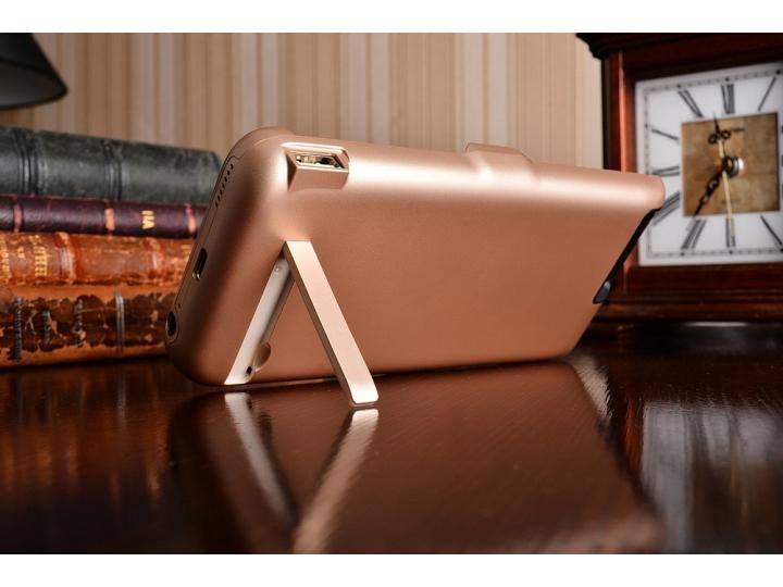 Чехол-бампер со встроенной усиленной мощной батарей-аккумулятором большой повышенной расширенной ёмкости 10000..